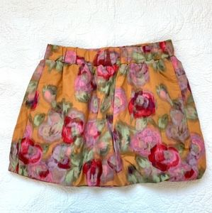EUC J.Crew Water Floral Poppy Bubble Skirt, size 2